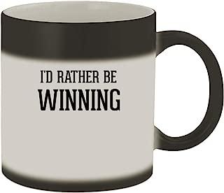 I'd Rather Be WINNING - 11oz Ceramic Matte Black Color Changing Mug, Matte Black