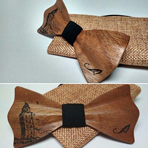 Pajarita de madera de Caoba