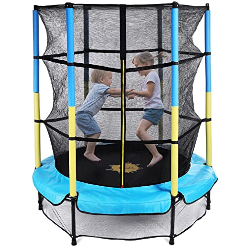 Toddler Trampoline with Enclosure Net, Doufit TR-05 55 Inch Mini Trampoline for Kids