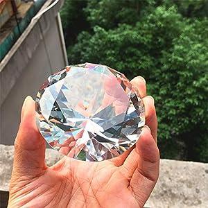 Cristal Cristal Cut Diamante figuritas miniaturas Artesanía regalo Feng Shui Bodas eventos Para la decoración de la casa accesorios de decoración 8 cm (clear)