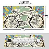 人気lsd - Albert Hofmann - Bicycle Day (5) ワイヤレス マウスパッド 耐久性が良い 防水 滑り止めゴム底 ゲーム オフィス 多機能 マウスパッ