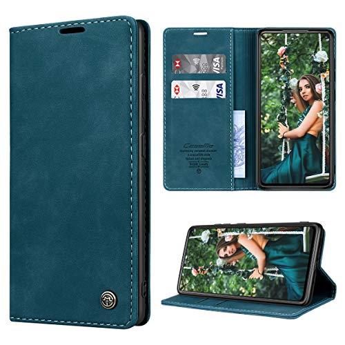 RuiPower Handyhülle für Samsung Galaxy S20 FE/S20 FE 5G Hülle Premium Leder Flip Hülle Magnetisch Klapphülle Wallet Lederhülle Schutzhülle für Samsung Galaxy S20 FE (Fan Edition) 5G/4G - Blaugrün