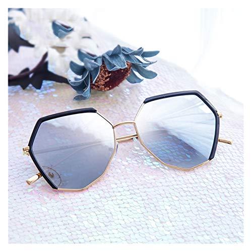 LDH Gafas De Sol Polarizadas, Gafas De Sol Polígonales Personalizadas, Gafas De Sol Al Aire Libre Anti-Ultravioleta De Alta Definición, Gafas De Sol De Metal Ligero (Color : B)