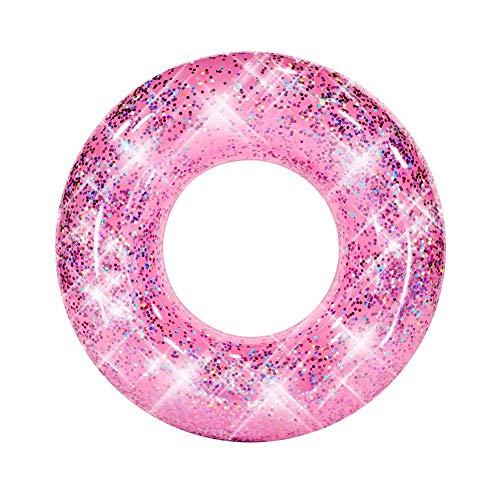 """PoolCandy Jumbo Pool Tube, 36"""", Pink Glitter"""