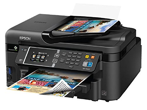 Epson Workforce WF-3620 WiFi Direct All-in-One Color Inkjet Printer, Copier,...