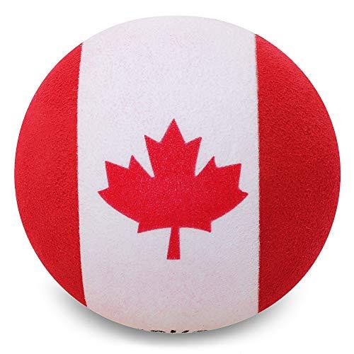 Coolballs Canada Canadian Country Flag Car Antenna Ball / Auto Mirror Dangler / Desktop Bobble Buddy