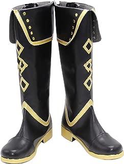 Mingchuan Whirl Cosplay Boots Shoes for Touken Ranbu Akashi Kuniyuki Black