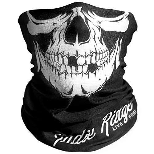 Skull Outdoor Motorcycle Mask By Indie Ridge - Ski Snowboard Mask Seamless Headwear