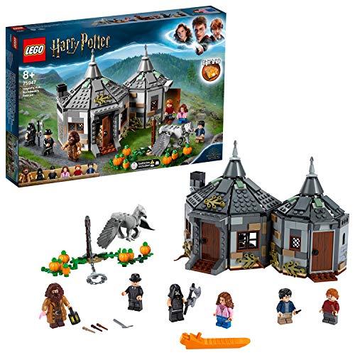 LEGO Harry Potter - Cabana de Hagrid Rescate de Buckbeak, Juguete de Construccion con Hipogrifo, Incluye Minifiguras de Harry, Ron y Hermione (75947)