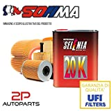Kit tagliando auto, kit tre filtri e 3 litri olio motore Selenia 20K 10W40 (KF1030/so)