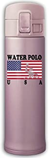 500ml Stainless Steel Vacuum Insulation Travel Mug Keeps Drinks Hot And Cold American Flag Water Polo-1 Water Bottle