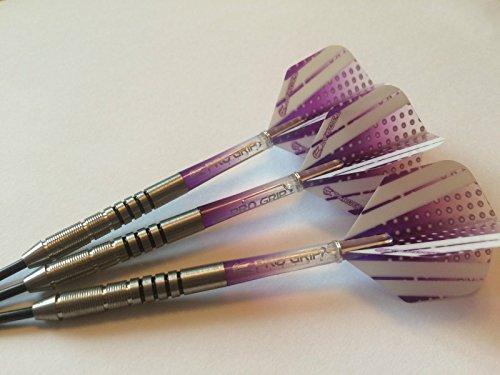 19g Nodor Purple Passion Tungsten Darts Set Target Pro Grip Stem & Vision Flights