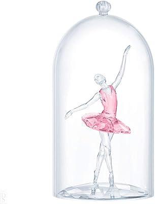 Swarovski Ballerina Under Glass Bell Figurine Crystal Multicoloured Light 10.1 x 6.9 x 6.9 cm