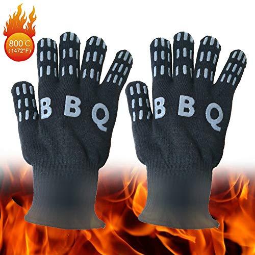 Peijco BBQ Handschoenen Hittebestendige Oven Mitts EN407 Gecertificeerde Keuken Handschoenen Professionele Barbecue Accessoires Voor Grote Groene Ei Weber Open Haard Koken Grillen Bakken (1 paar)