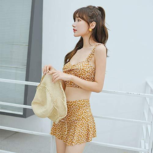 Demxya Nueva Corea Sexy Bikinis Set empuja hacia arriba el traje de baño de la impresión del tamaño de Asia altura de la cintura de las mujeres traje de baño traje de baño Traje Biquini bañador push u