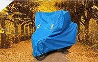 車カバー オートバイカバーバイクフードアンチ紫外線防水雪の防水スノーダスト防護スクーターの下で (Color Name : Blue PEVA, Size : S)