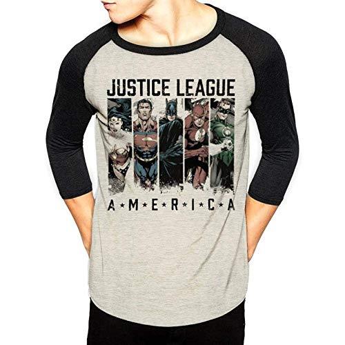 CID Justice League-America Camisa Manga Larga, Negro (Black Black), Small para Hombre