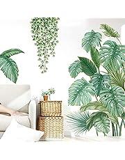Pegatinas de Pared Planta Tropicales,Pegatinas de Pared Hoja de Banana,Planta Tropical Hoja de Tortuga Etiqueta de La pared,para Dormitorio, Sala de Estar, Comedor, Pared de Fondo de Tv Etc
