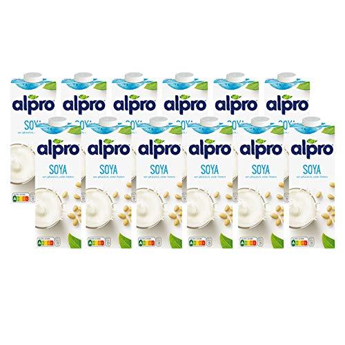 12x Alpro - Soya Drink Original mit Calcium - 1000ml