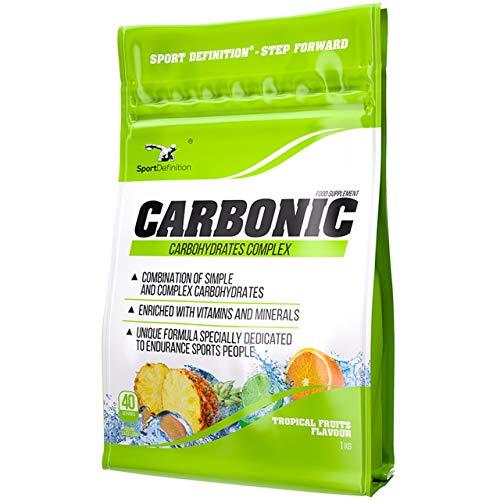 Sport Definition Carbonic Paquete de 1 x 1000g Suplemento de Carbohidratos – Vitaminas y Minerales – Maltodextrina y Glucosa (Tropical)