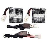 Blomiky New Version 2 Pack EL-6P 9.6V 800mAh Li-ion Battery Fit for 9120 S913 S916 S911 S912 9123 9112 1/12 Race Car EL-6P 9.6V Battery 2