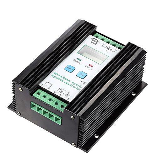 Festnight LCD economische PWM-wind-solar hybride systeemcontroller (600 W wind + 400 W zonne) 12 V / 24 V automatische identificatie huishouden verlichting street lamp bescherming accucontroller