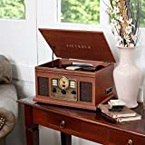 Victrola Classic 7-in-1 Bluetooth Turntable, Mahogany