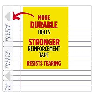 """اسعار Five Star Loose Leaf Paper, 3 Hole Punched, Reinforced Filler Paper, Wide Ruled, 10-1/2"""" x 8"""", 100 Sheets/Pack, 3 Pack (38033)"""