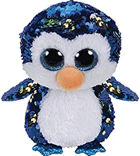LAJKS Ty Beanie Boos Sequin Series Plush Toys Owl Flamingo Penguin Animal Doll Cat Dragon Collectible 25Cm Boy Must Haves 5 Year Old Girl Gifts The Favourite Anime Superhero Baby Boy Must H