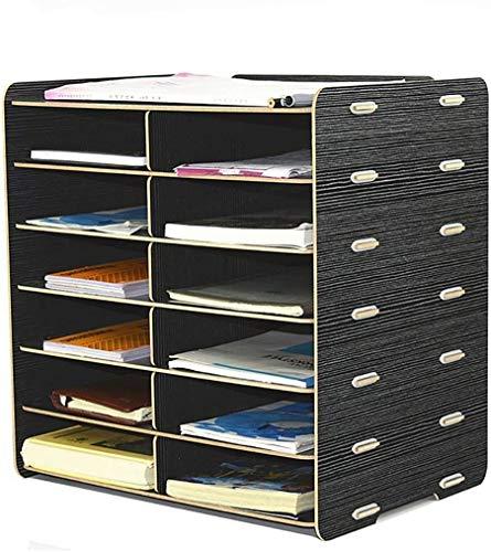 GJSN Gabinete de Archivo de Alenamiento de Oficina Multifunción: Soporte de Archivo Extraíble Caja de Alenamiento Gabinete Ordinario Superficie Del Producto de Mdf de Alta Calidad Color Uniforme Esqu