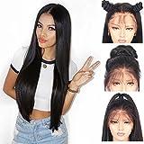 Andria Hair Encaje sintético pelucas delanteras largo Yaki recto a prueba de calor Pre pelo peluca desplumados 26' straight hair lace front wig