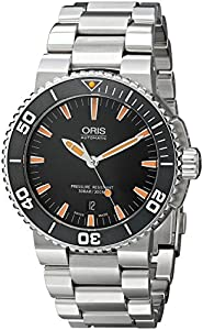 Oris Men's 73376534159MB Divers Analog Display Swiss Automatic Silver Watch image