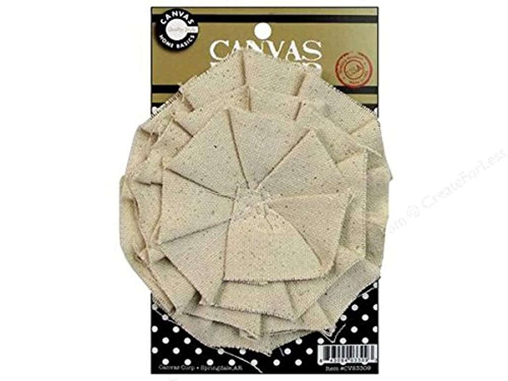 Canvas Corp CVS3309 Canvas Flower, 4-Inch, Natural
