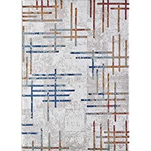 Luxe Weavers Arman Collection – Modern Abstract Premium Area Rug – 5' x 7′, 8061