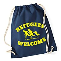 REFUGEES WELCOME Turnbeutel navy von Racker-n-Roll