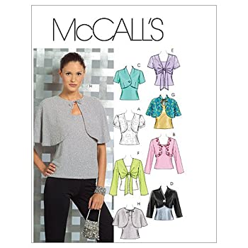McCall s Patterns M5006 Misses  Lined and Unlined Shrugs and Lined Capelets and Top Size DD  12-14-16-18