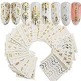 Topdo 30 Feuilles Autocollant d'ongle Optionnel Sticker Autocollant Ongle Deco Manucure Nail Art Stickers Set Gel UV Ongles Paillettes 6.3 * 5.4cm Capteur de rêves Nature
