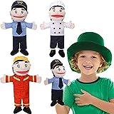 3 Trajes Marionetas de Bombero de Gran Tamaño Marioneta de Policía Marioneta de Chef de 15,7 Pulgadas para Narración de Cuentos Disfraz Pacifica al Bebé Enseñanza Interactiva