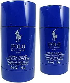 Ralph Lauren Polo Blue Alcohol Free Deodorant, 2 Count