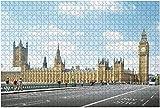 1000 piezas-Big Ben y Westminster Bridge en Londres Rompecabezas de madera DIY Niños Rompecabezas educativos Regalo de descompresión para adultos Juegos creativos Juguetes Rompecabezas Decoración par