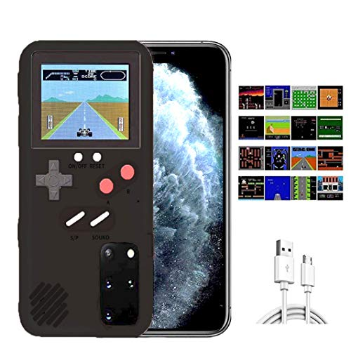 Handyhülle + Handheld Spielekonsole für Samsung Galaxy S20, eine neue coole Handheld Spielkonsole Telefonhülle- Kann 36 Retro Classic Videospiele Tetris/F1/Street Fighting (Classic Black)