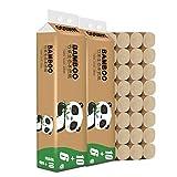 16 rollos de papel de cocina de celulosa de bambú nativa para aseos, papel higiénico, papel de cocina, secado rápido, bolsas de absorción, paños de papel blancos, suave y delicado con la piel