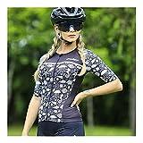 LYYJIAJU Ciclismo Skinsuit Suit Cycling Skinsuit Donne Manica Corta Triathlon Abiti Summer Abbigliamento Set One Piece Bici Dress Tuta (Color : E, Size : L)