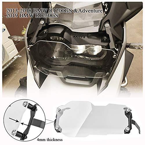 FATExpress Motocicleta Faro Frontal Protector para Lente Protector de Pantalla para 2013-2018 BMW R1200GS R 1200 GS Adventure ADV 2019 R1250GS 2014 2015 2016 2017