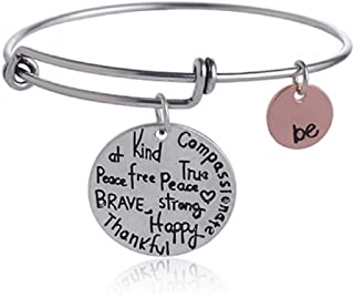 Expandable Inspirational Jewelry Women Charm Stackable...