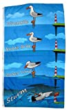 FahnenMax® Flagge/Fahne Wind Möwe Leuchtturm 90 x 150 cm