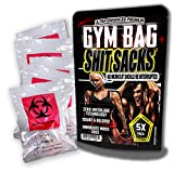 Gym Bag Shit Sacks 5 Pack Funny Gym Gags for Trainers Workout Gags for Men Silly Stocking Stuffers for Health Nuts Funny Poop Gags Gym Bags Poop Sacks Shit Gags Biohazard Bags Gym Bodybuilding Jokes