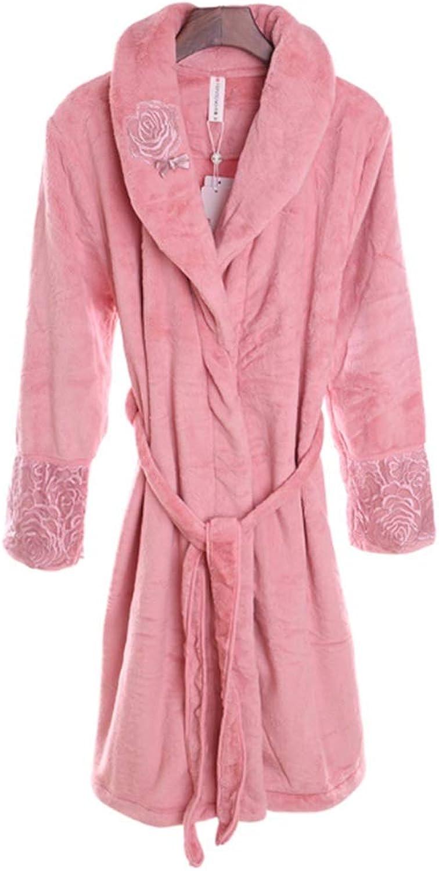 NAN Liang Women's Bathrobe 100% Cotton Robes Luxury Super Soft Nightdress MXL. (Size   XL)