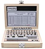 Accusize Industrial Tools 36 Pc Steel Gage Block Set, Grade As-2 Asme B89.1.9-2002, with M...