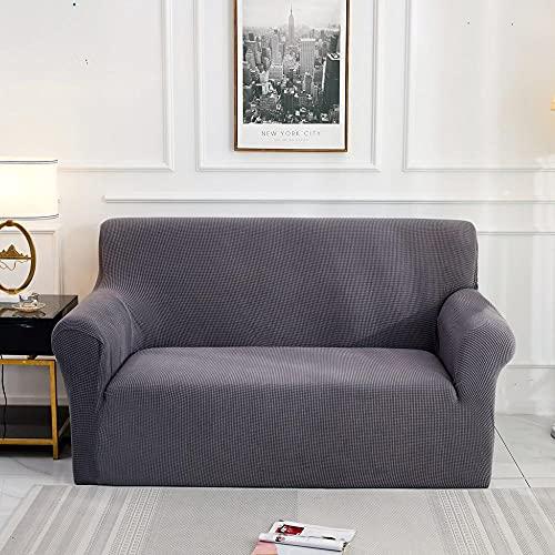 ASCV Jacquard Sofabezug für Wohnzimmer Elastic Strech Sofa Schonbezug Schnittsofa Bezug Möbelschutz A6 4-Sitzer
